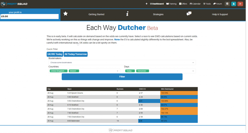 each way dutcher