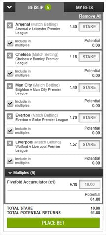 Accumulator bet