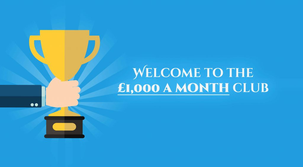Make £1,000 a month matched betting