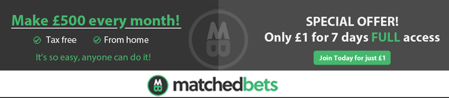 MatchedBets.com discount – £1 for 7 days