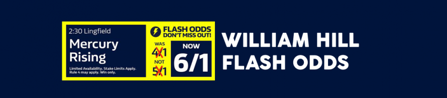 William Hill Flash Odds Boost