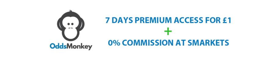 OddsMonkey Discount Code – 7 Days Premium for £1