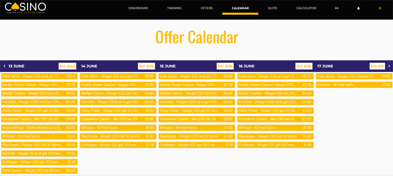 daily offer calendar