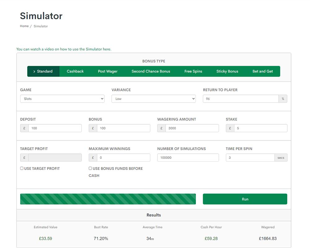 bonus accumulator simulator